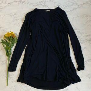 Umgee black open back flowy tunic top 2x